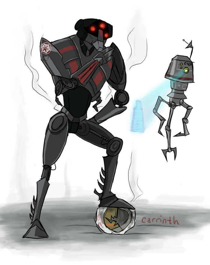 Commission: Droids on a Mission by carrinth