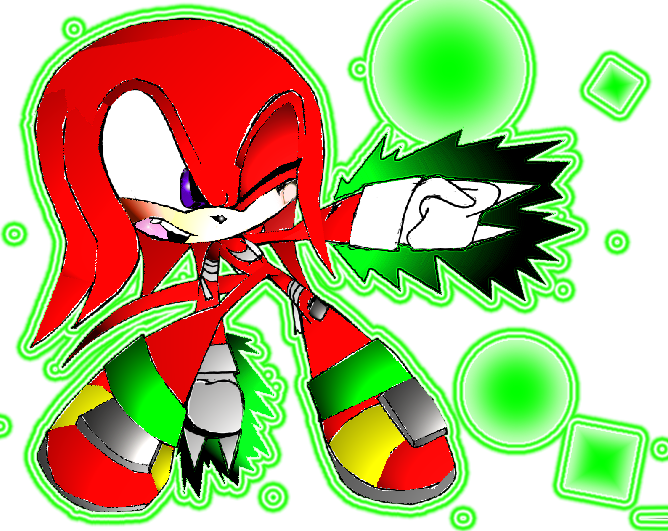Knuckles Thunder Arrow by creepyTechnician