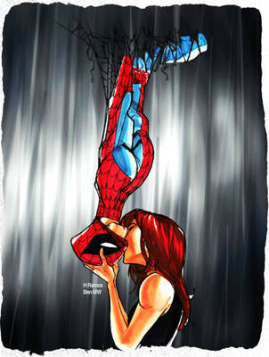 MJ and Spidey Mythic Kiss by BenComics