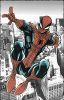 Spider-Man Above NYC by BenComics
