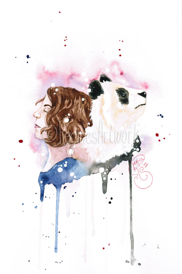 Risu and Panda by ReginesArtwork
