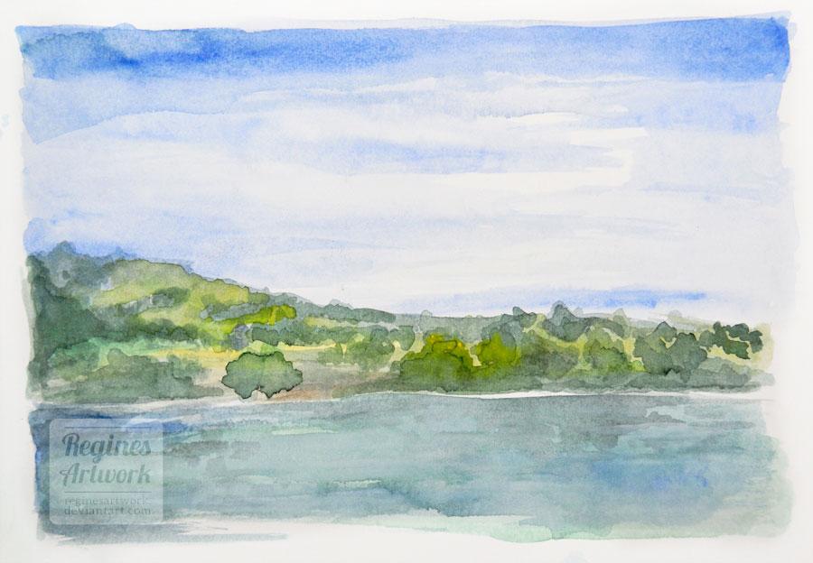 Rhine - landscape practice by ReginesArtwork