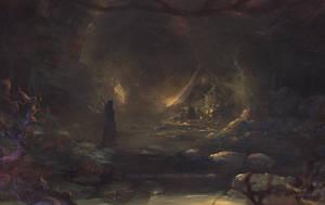 Undergound cave by elleneth