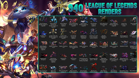 [FREE] 940 League Of Legends Renders [2019 Update] by lol0verlay