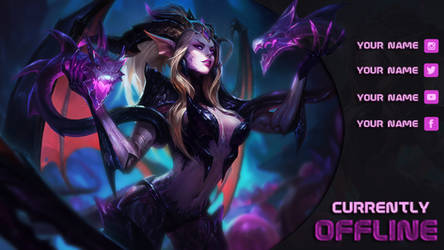 [FREE] Dragon Sorceress Zyra - Offline Screen by lol0verlay