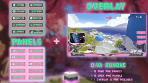 D.VA Bundle - Panels + Overlay (26 PNG) by lol0verlay