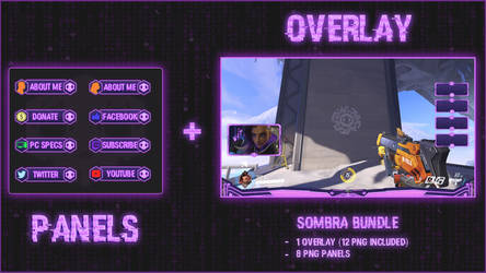 Sombra Bundle - Panels + Overlay (20 PNG) by LoL-Overlay