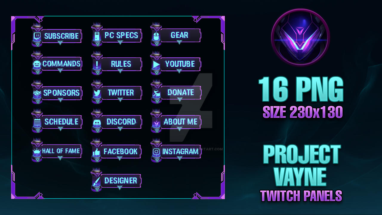 PROJECT Vayne - Twitch Panels by lol0verlay on DeviantArt