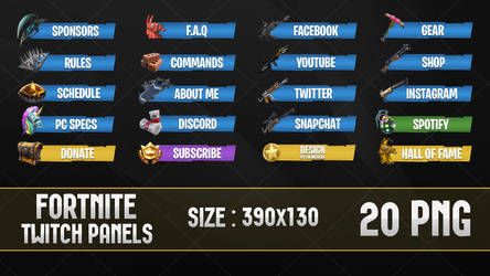 Fortnite - Twitch Panels by LoL-Overlay