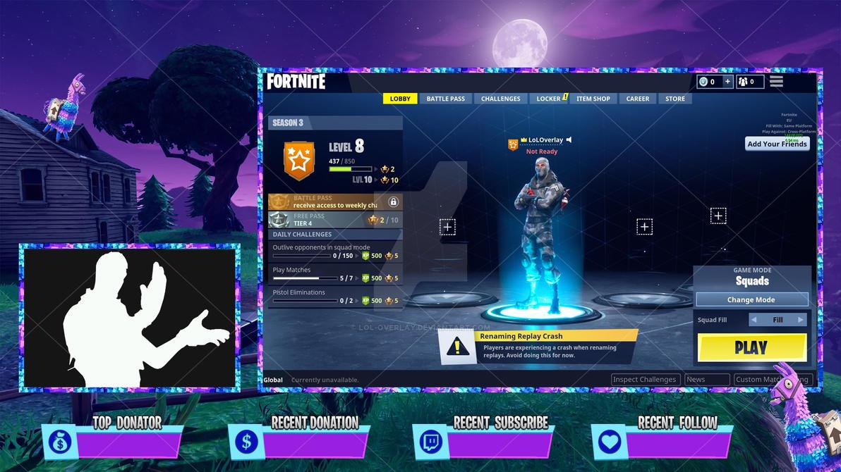 fortnite llama lobby overlay by lol0verlay on deviantart