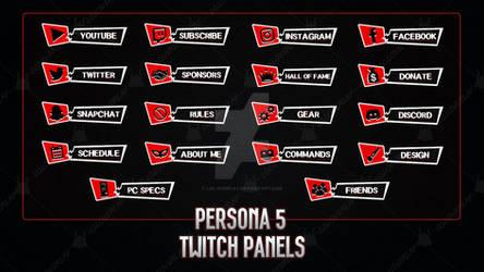 Persona 5 - Twitch Panels