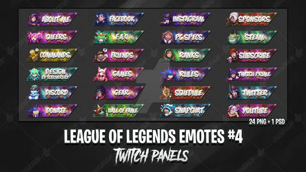 League Of Legends Emotes - Twitch Panels #4