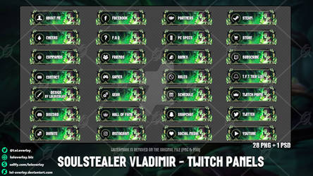 Soulstealer Vladimir - Twitch Panels