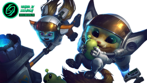 Astronaut Poppy and Gnar - Render