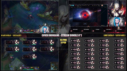 Coven Morgana - Stream Bundle #2 [53 PNG + 3 PSD]