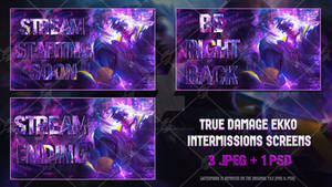 True Damage Ekko - Intermissions Screens