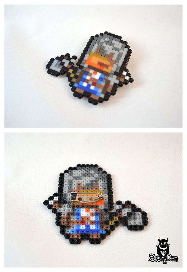 Assassin's creed 3 Connor fuse beads sprite badge by zestyden