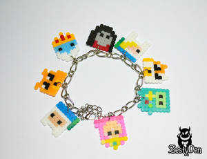 Adventure time perler hama beads sprite bracelet
