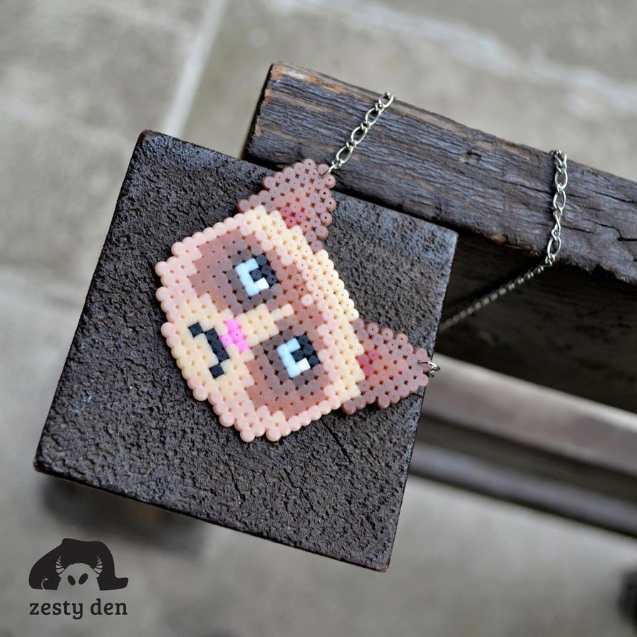 Grumpy cat perler hama beads necklace by zestyden on DeviantArt