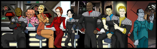 Deep Space 9 Crew by Toadman005