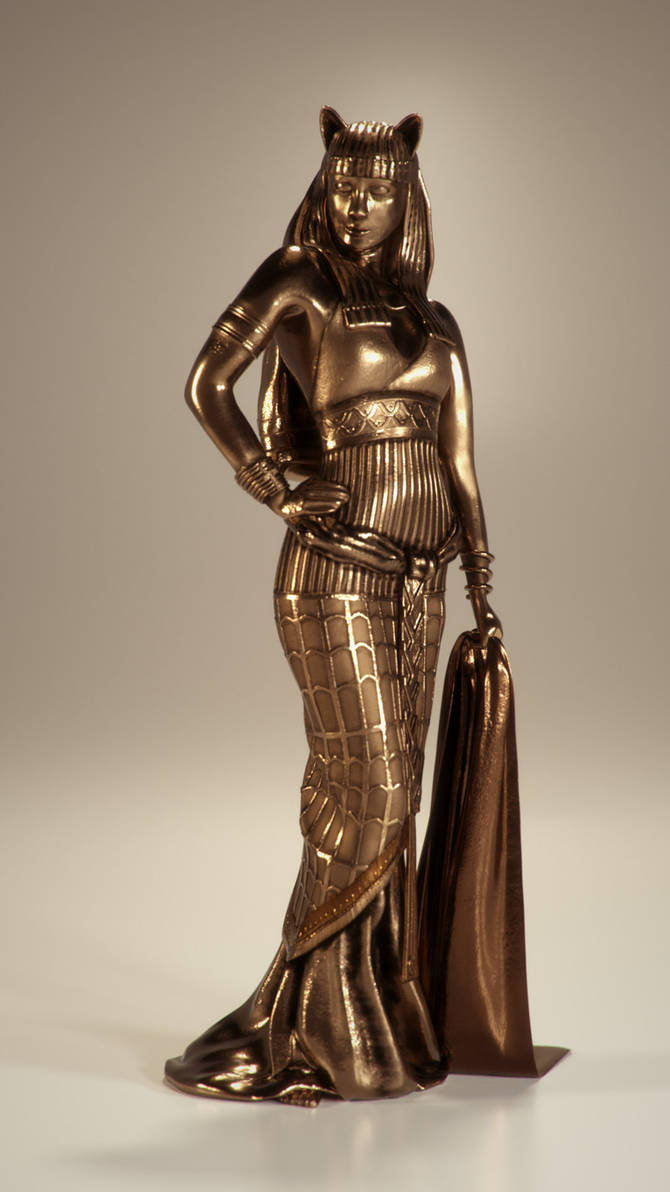 Bastet, Egyptian Goddess of Protection by Piitas on DeviantArt