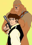 Star wars: Han solo and Chewie