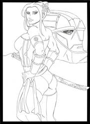 Psylocke vs Sentinel by dmtr1981