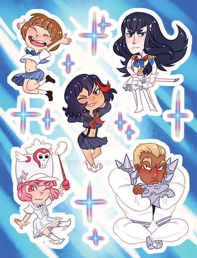 Stickers - Kill la Kill by elefluff