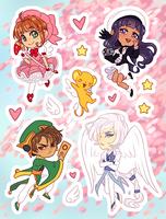 Stickers - Cardcaptor Sakura by elefluff