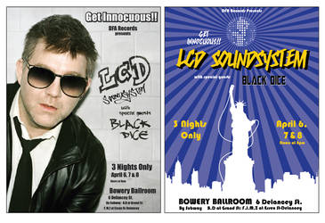 LCD Soundsystem poster set by KRPgraphics