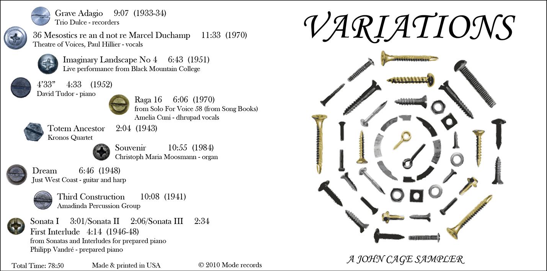 John Cage Variations CD #1