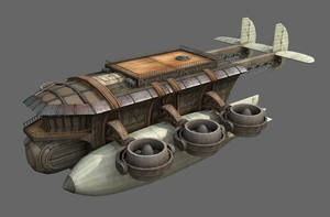 Corsair steam gunship by strangelet