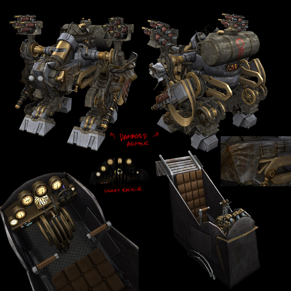 steam mecha boss baddie 1 by strangelet