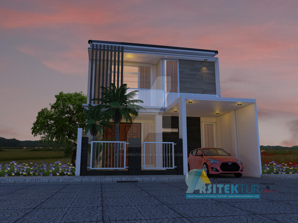 Jasa Desain Rumah Minimalis 2 Lantai Malam By Titopratama On Deviantart