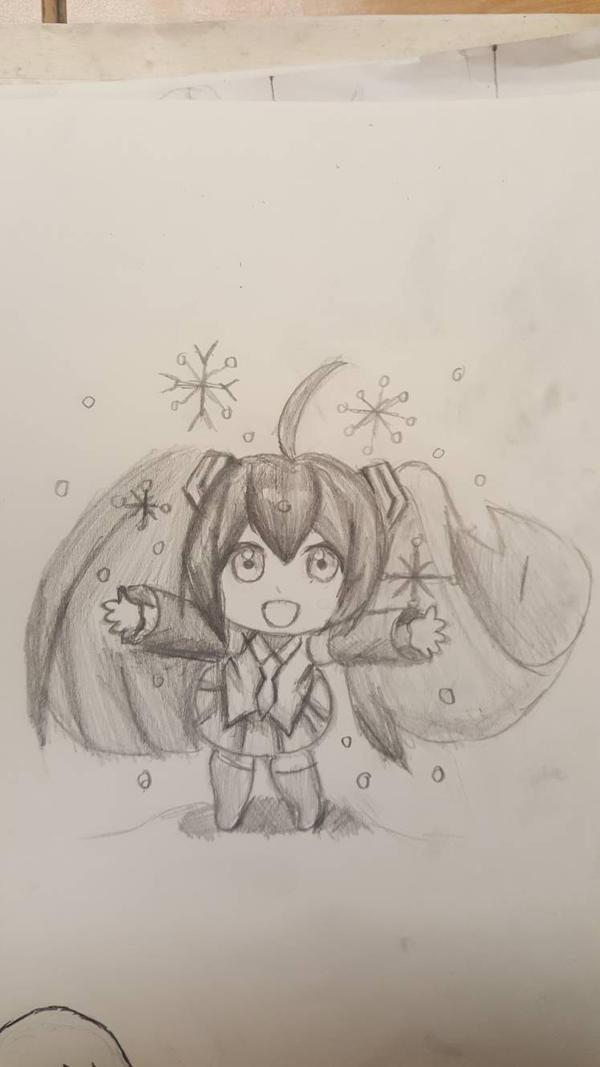 Winter Miku by Evesune