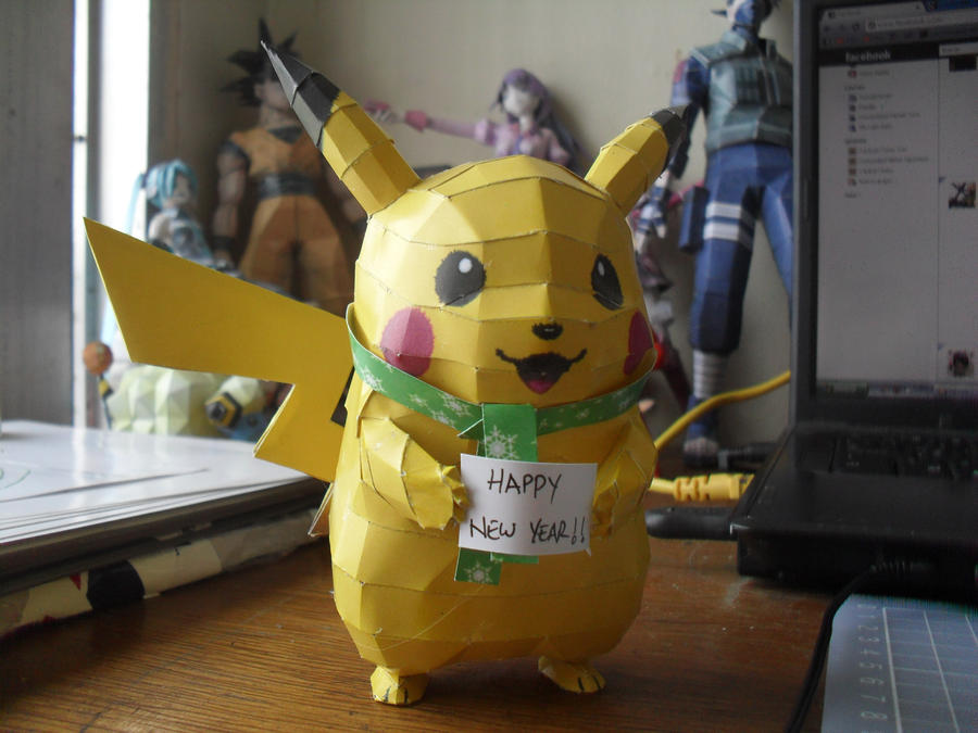 Papercraft - Pikachu - Happy New Year by ckry