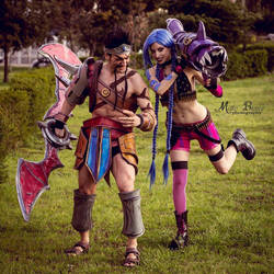 Jinx and Draven by MissHatred and Leon Chiro by JessicaMissHatred