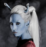 Andorian star Trek cosplay by MissHatred