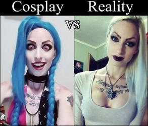 Cosplay vs Reality Jinx by MissHatred by JessicaMissHatred