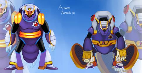 Armored Armadillo - Megaman X Maverick by Pokefuturemarsh