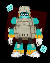 Blockman - Megaman 11 by Pokefuturemarsh