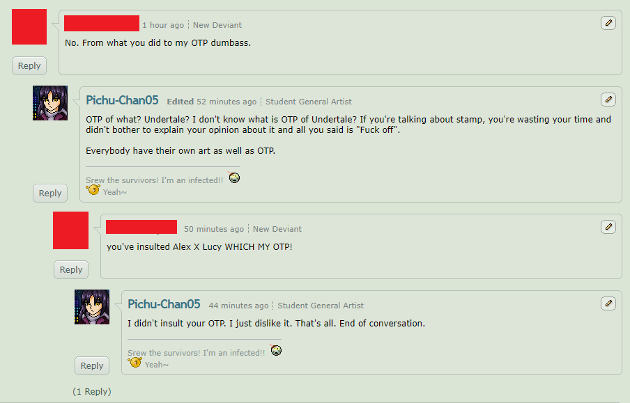 Guys call it BS for OTP 2 censoring by Pichu-Chan05