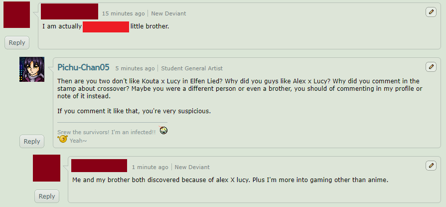 Guy is different account and hate lucy x kouta 2 c by Pichu-Chan05