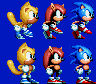 Sonic Mania Plus - Ray, Mighty, and Sonic by ZiggyTheZombieHedgie