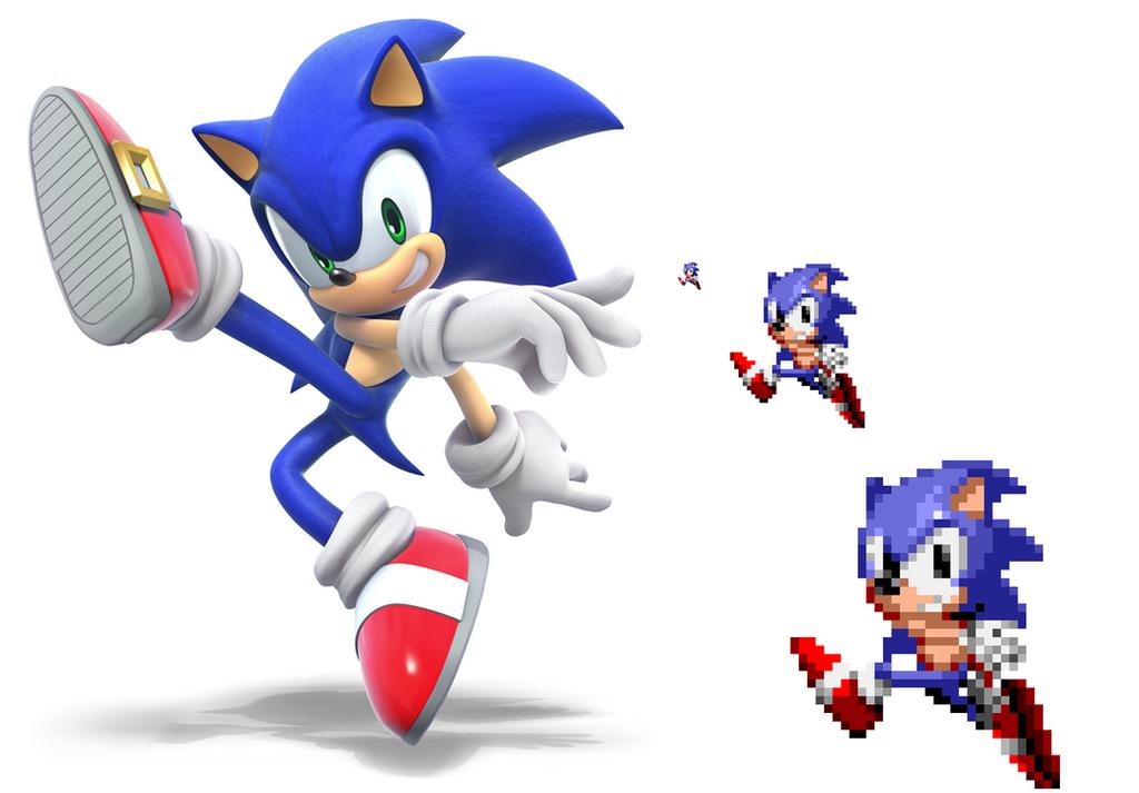 SSB5 Sonic (STHM Style) by ZiggyTheZombieHedgie