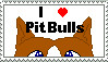 I love Pit Bulls Stamp by TheBullTerrier