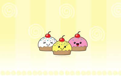Cupcake wallpaper by Keoni-chan