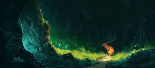 Painting A Rich Forest by Matt-Sanz