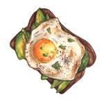 Toast with egg and avocado by TanyaTej