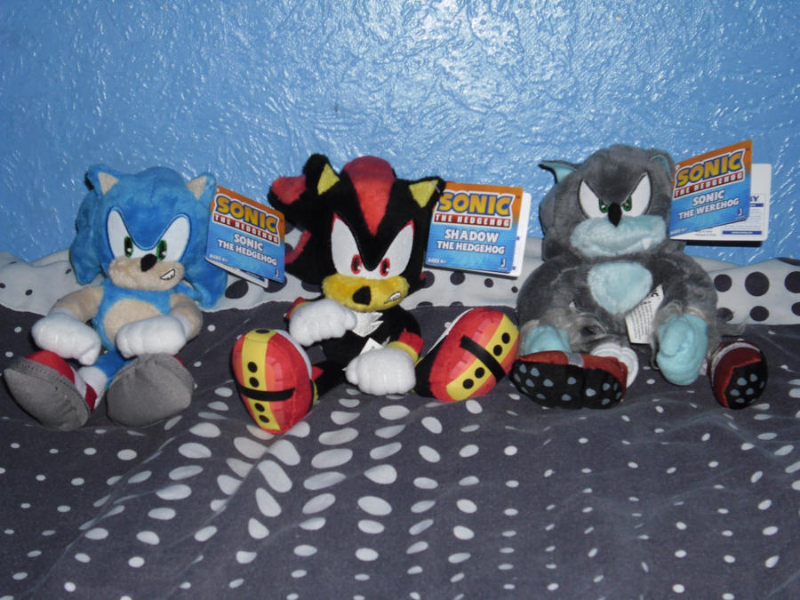 Sonic Shadow And Werehog Plush By Darkgamer2011 On Deviantart